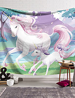 cheap -Wall Tapestry Art Decor Blanket Curtain Hanging Home Bedroom Living Room Decoration Polyester Pink Unicorn