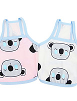 cheap -Dog Cat Shirt / T-Shirt Vest Koala Animal Basic Adorable Cute Dailywear Casual / Daily Dog Clothes Puppy Clothes Dog Outfits Breathable White Pink Costume for Girl and Boy Dog Polyster S M L XL XXL