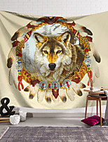 cheap -Wall Tapestry Art Decor Blanket Curtain Hanging Home Bedroom Living Room Decoration Polyester Snow Wolf