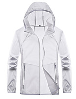 cheap -Men's Hoodie Jacket Fishing Jacket Lightweight UV Sun Protection Breathable Jacket Sports & Outdoor Fishing / Quick Dry / Camo / Camouflage