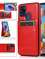 cheap -Multi-function Solid Colored Leather Card Case For Samsung Galaxy A51 A71 A91 A50S A70 A70S  With Card Holder Shockproof Back Cover For Samsung A51(5G) A71(5G) A42(5G) A32(5G)