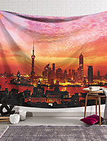 cheap -Wall Tapestry Art Decor Blanket Curtain Hanging Home Bedroom Living Room Decoration Polyester Shanghai Dusk View
