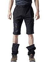 cheap -Men's Hiking Pants Trousers Hiking Shorts Convertible Pants / Zip Off Pants Outdoor Waterproof Breathable Comfortable Sweat-Wicking Nylon Elastane Shorts Pants / Trousers Bottoms Black Grey Khaki