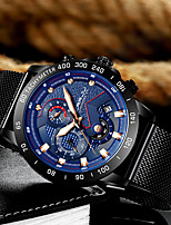 cheap -Men's Dress Watch Quartz Roman Numeral Modern Style Calendar / date / day Analog Black Black / Blue / One Year / Titanium Alloy