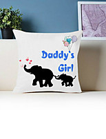 cheap -1 Pc Cushion Cover with or without Pillow Insert Double Side Print Elephants 38x38cm / 45x45cm Polyester