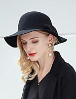 cheap -Simple Fashion 100% Wool Hats with Pom-pom 1pc Wedding Headpiece