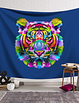 cheap -Wall Tapestry Art Decor Blanket Curtain Hanging Home Bedroom Living Room Decoration Polyester Tiger Head Color