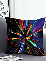 cheap -Cushion Cover with or without Pillow Insert Double Side Print 38x38cm / 45x45cm Polyester Colorful Lines