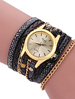 cheap -Women's Quartz Watches Analog - Digital Quartz Plaited Wrap Fashion Creative / PU Leather
