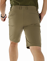 cheap -Men's Hiking Shorts Solid Color Summer Outdoor Breathable Quick Dry Stretchy Wear Resistance Nylon Shorts Black Dark Gray Khaki Hunting Fishing Climbing M L XL XXL XXXL