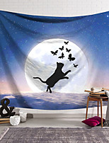 cheap -Wall Tapestry Art Decor Blanket Curtain Hanging Home Bedroom Living Room Decoration Polyester Cat Butterfly Starry Sky