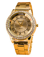 cheap -Women's Steel Band Watches Quartz Glitter Sparkle Diamond Analog Rose Gold Gold Silver