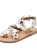 cheap -Women's Sandals Boho Bohemia Beach Flat Heel Open Toe Flat Sandals Casual Roman Shoes Daily Walking Shoes PU dark brown