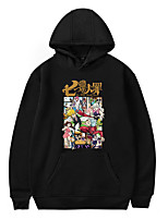 cheap -Inspired by The Seven Deadly Sins Cosplay Cosplay Costume Hoodie Poly / Cotton Graphic Prints Printing Hoodie For Men's / Women's