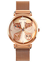 cheap -SKMEI Women's Quartz Watches Quartz Stylish Minimalist Creative Analog Rose Gold Black Red / One Year / Stainless Steel