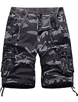 cheap -Men's Hiking Shorts Hiking Cargo Shorts Camo Summer Outdoor Breathable Multi-Pockets Wear Resistance Scratch Resistant Cotton Shorts Army Green Grey Green Hunting Fishing Climbing 29 30 32 34 36