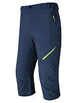 cheap -Men's Hiking Shorts Solid Color Summer Outdoor Waterproof Breathable Quick Dry Stretchy Capri Pants Black Dark Gray Khaki Royal Blue Hunting Fishing Climbing L XL XXL XXXL 4XL / Zipper Pocket