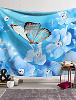 cheap -Wall Tapestry Art Decor Blanket Curtain Hanging Home Bedroom Living Room Decoration Polyester Crystal Butterfly