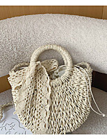 cheap -Women's Bags Straw Top Handle Bag Lace Bow(s) Plain Floral Print 2021 Daily Going out Khaki Beige / Straw Bag