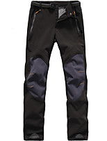 cheap -Men's Hiking Pants Trousers Softshell Pants Patchwork Winter Outdoor Thermal Windproof Fleece Lining Warm Fleece Nylon Softshell Pants / Trousers Bottoms Black Grey Hunting Climbing Camping / Hiking