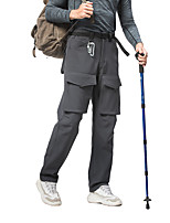 cheap -Men's Hiking Pants Trousers Hiking Shorts Outdoor Waterproof Breathable Comfortable Sweat-Wicking Elastane Pants / Trousers Bottoms Black Grey Climbing Camping / Hiking / Caving Traveling S M L XL XXL