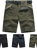 cheap -Men's Hiking Shorts Solid Color Summer Outdoor Lightweight Breathable Quick Dry Stretchy Shorts Black Army Green Grey Hunting Fishing Climbing M L XL XXL XXXL / Wear Resistance