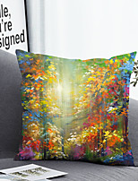 cheap -1 Pc Cushion Cover with or without Pillow Insert Double Side Print Colorful Forest 38x38cm / 45x45cm Polyester