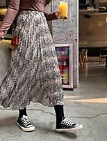 cheap -Women's Date Vacation Elegant Streetwear Skirts Graphic Ruched Black Khaki