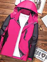 cheap -Women's Men's Hiking Softshell Jacket Hoodie Jacket Hiking Windbreaker Summer Outdoor Quick Dry Lightweight Breathable Sweat wicking Jacket Top Hunting Fishing Climbing Women's rose red Men's black