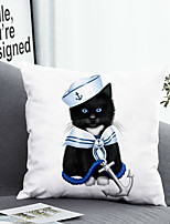 cheap -1 Pc Cushion Cover with or without Pillow Insert Double Side Print Cat Animal 38x38cm / 45x45cm Polyester