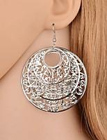 cheap -Women's Drop Earrings Hollow Out Simple Earrings Jewelry Black / Gold / Silver For Festival