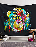 cheap -Wall Tapestry Art Decor Blanket Curtain Hanging Home Bedroom Living Room Decoration Polyester Colorful Monkey Covering Face