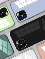 cheap -Case For Apple iPhone 12 / iPhone 11 / iPhone 12 Pro Max Shockproof / Mirror Back Cover Solid Colored TPU / Tempered Glass