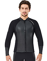 cheap -Dive&Sail Men's Full Wetsuit 2mm Nylon SCR Neoprene Top Quick Dry Anatomic Design Long Sleeve Front Zip Patchwork Autumn / Fall Spring Summer / Stretchy