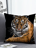 cheap -1 Pc Cushion Cover with or without Pillow Insert Double Side Print Tiger Animal 38x38cm / 45x45cm Polyester