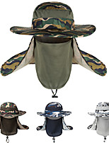 cheap -Men's Sun Hat Fishing Hat Hiking Hat Outdoor UV Sun Protection Windproof UPF50+ Quick Dry Spring Summer Hunting Ski / Snowboard Fishing Camouflage Army Green Camouflage light gray Camouflage Navy