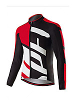 cheap -Men's Short Sleeve Downhill Jersey Red and White Red / White Black / Red Bike Jersey Sports Clothing Apparel
