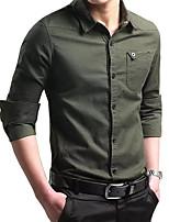 cheap -Men's Hiking Shirt / Button Down Shirts Military Tactical Shirt Long Sleeve Sweatshirt Top Outdoor Lightweight Breathable Quick Dry Sweat wicking Summer Wine Pink ArmyGreen Running