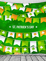 cheap -Happy St. Patrick's Day Wall Tapestry Art Decor Blanket Curtain Hanging Home Bedroom Living Room Decoration