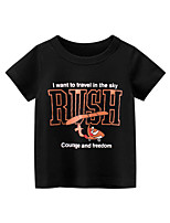 cheap -Boys' Short Sleeve T-Shirts Cartoon Letters Tees Round Neck Kids Tops for 3-7 Years