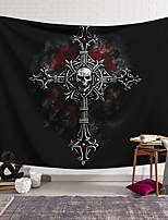cheap -Wall Tapestry Art Decor Blanket Curtain Hanging Home Bedroom Living Room Decoration Polyester Cross Skull