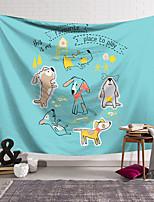 voordelige -Wandtapijten art decor deken gordijn opknoping thuis slaapkamer woonkamer decoratie polyester klein dier schets