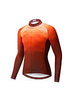 cheap -Men's Long Sleeve Downhill Jersey Purple Orange Green Bike Jersey Sports Clothing Apparel