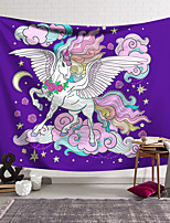 cheap -Wall Tapestry Art Decor Blanket Curtain Hanging Home Bedroom Living Room Decoration Polyester Color Unicorn Powder