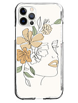 cheap -Floral Print Case For Apple iPhone 12 iPhone 11 iPhone 12 Pro Max Unique Design Protective Case Shockproof Pattern Back Cover TPU