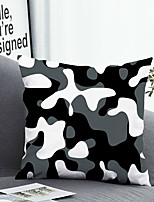 cheap -1 pcs Polyester Pillow Cover Pillow Cover & Insert, Geometric Simple Classic Square Zipper Polyester Traditional Classic