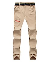 cheap -Men's Hiking Pants Trousers Solid Color Summer Outdoor Windproof Breathable Quick Dry Stretchy Bottoms Black Army Green Grey Khaki Hunting Fishing Climbing S M L XL XXL / Zipper Pocket