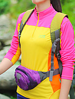 cheap -Women's T shirt Hiking Tee shirt Long Sleeve Stand Collar Tee Tshirt Top Outdoor Lightweight Breathable Quick Dry Soft Spring Summer Polyester Patchwork Purple Yellow Blue Fishing Climbing Running