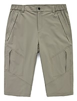 cheap -Men's Hiking Shorts Solid Color Outdoor Windproof Breathable Quick Dry Stretchy Shorts Black Army Green Grey Khaki Dark Navy Hunting Fishing Climbing M L XL XXL XXXL