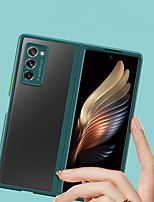 cheap -Solid border Transparent Case For Samsung Galaxy Z Fold 2 Translucent Back Cover Silicone